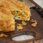 Butternut Squash Filo Pie with rice and spinach