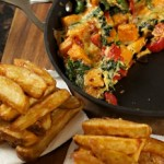 Sweet Potato and Spinach Fritatta recipe with twice cooked chips