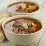 Oxtail Soup Recipe with beer and butter beans