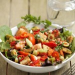 Italian Pepper and Tomato Salad with olives and capers