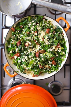 Chorizo with spring greens Recipe