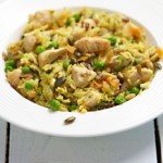 Gingered Chicken Recipe with pumpkin and seasame seed pilau rice