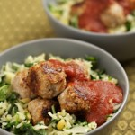 Swedish Meatballs with Spinach Rice