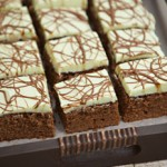 Mint Choc slices with chocolate drizzle