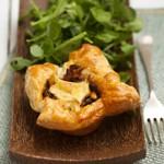 Cheese and Pine Nut Tarts with caremelised onions