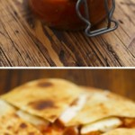 Spicy Chicken Quesadillas with tomato chutney