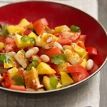 Canellini Bean & Mango Salad with Fried Halloumi