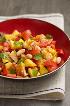 1317 canellini and mango salad