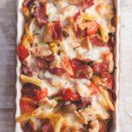 Gluten-free Sugar-free Chicken & Tomato Pasta Bake