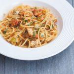 Gluten-Free Sugar-Free Pesto Spaghetti