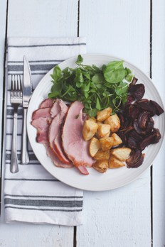 feature-roast_beetroot_with_gammon-sugar-free-gluten-free-cook-book-joy-may